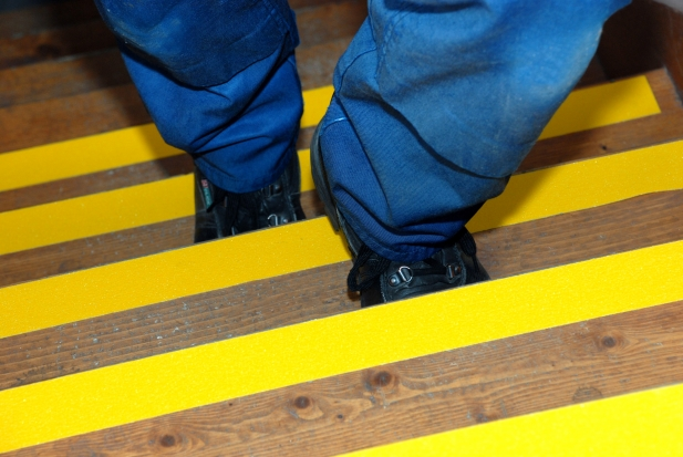 Comblack And Yellow Floor Tape : Comblack And Yellow Floor Tape : Safety Yellow Floor Tape